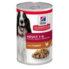 Hills Science Plan Canine Adult Turkey 370g 1X12tin