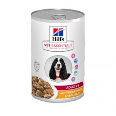 HILLS-CANINE-VET-SSENTIALS-ADULT-Chk---Veg-363gm-1x12-3HIC699